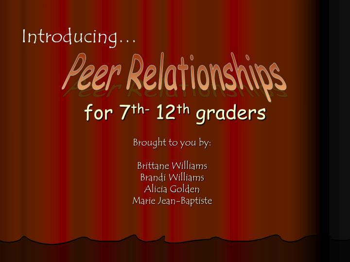 for 7 th 12 th graders n.