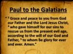 paul to the galatians