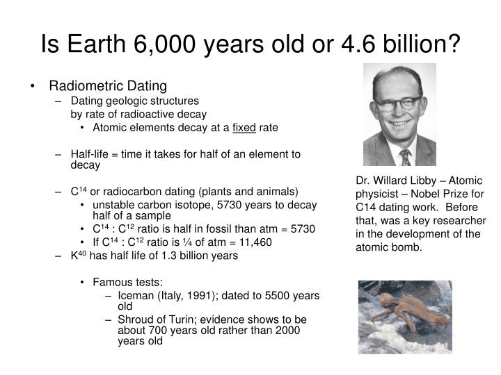 Is Earth 6,000 years old or 4.6 billion?
