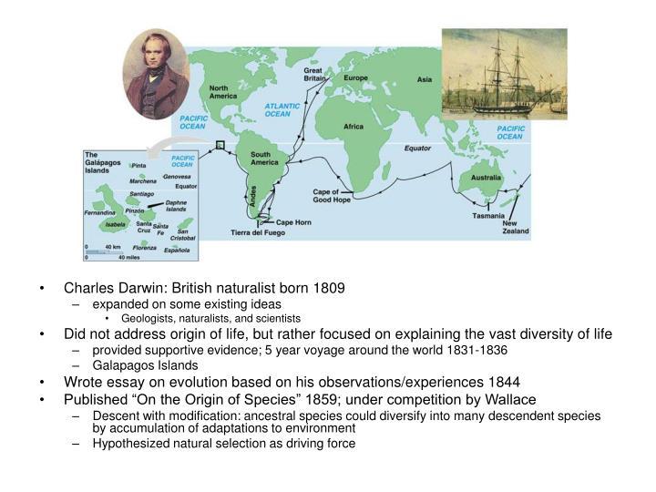Charles Darwin: British naturalist born 1809
