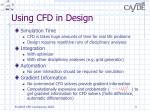 using cfd in design