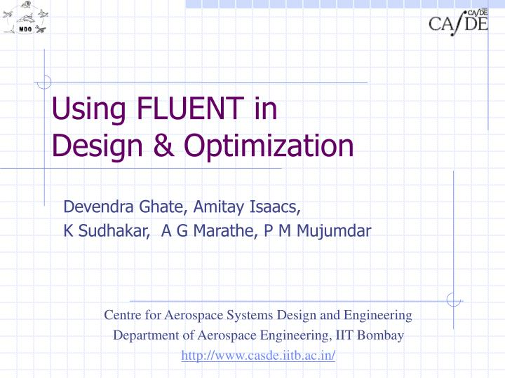 using fluent in design optimization n.