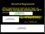 ancestral regressions