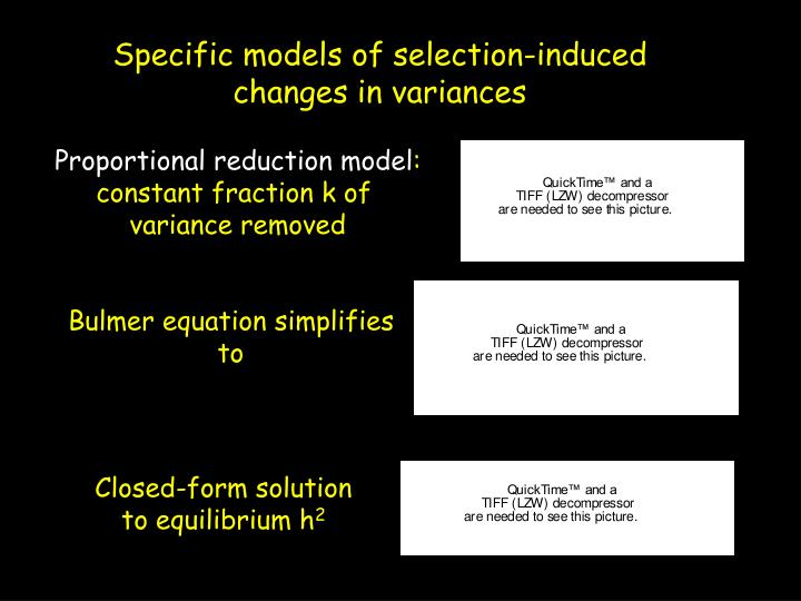 Proportional reduction model