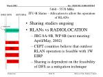 5460 5570 mhz itu r status allocation to allow the operation of rlans1