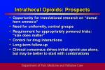 intrathecal opioids prospects