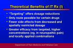 theoretical benefits of it rx i