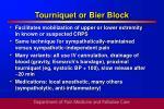 tourniquet or bier block