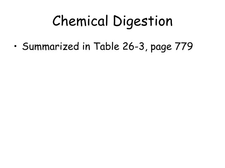 Chemical Digestion