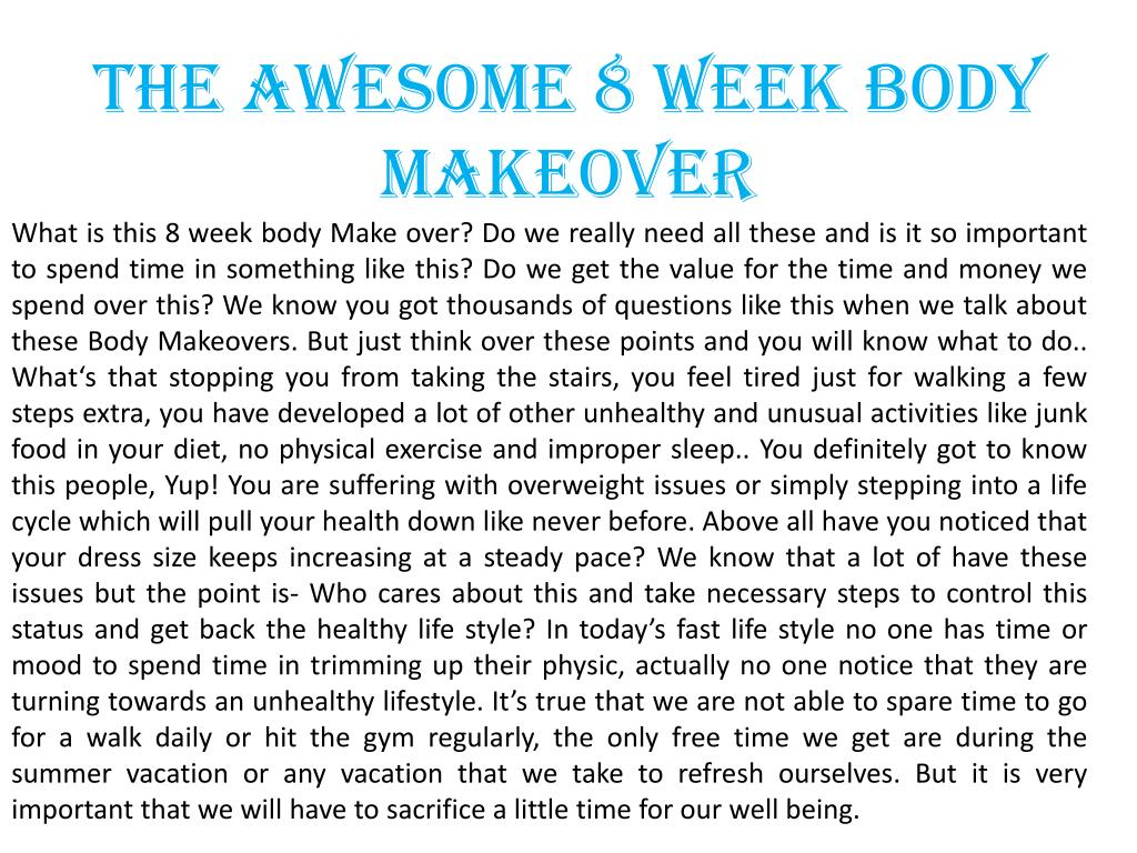 The Awesome 8 Week Body Makeover