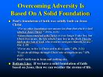 overcoming adversity is based on a solid foundation1