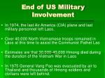 end of us military involvement