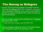 the hmong as refugees