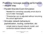 predicting message passing performance second step
