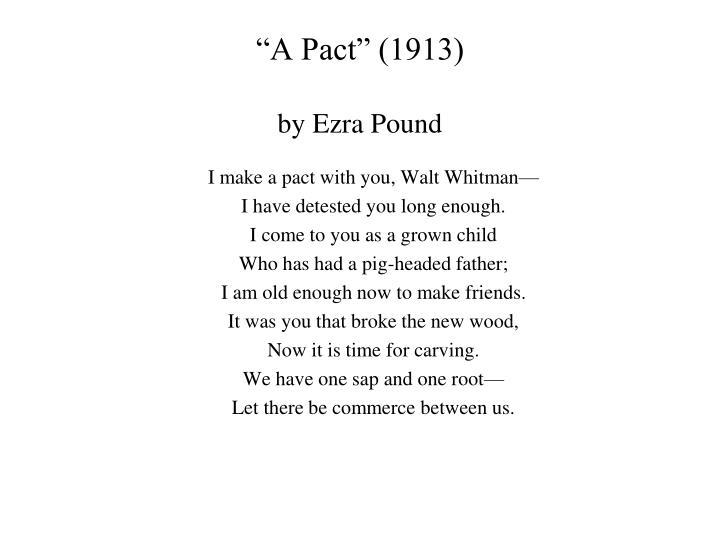 a pact ezra pound