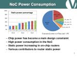 noc power consumption