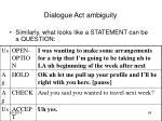 dialogue act ambiguity2