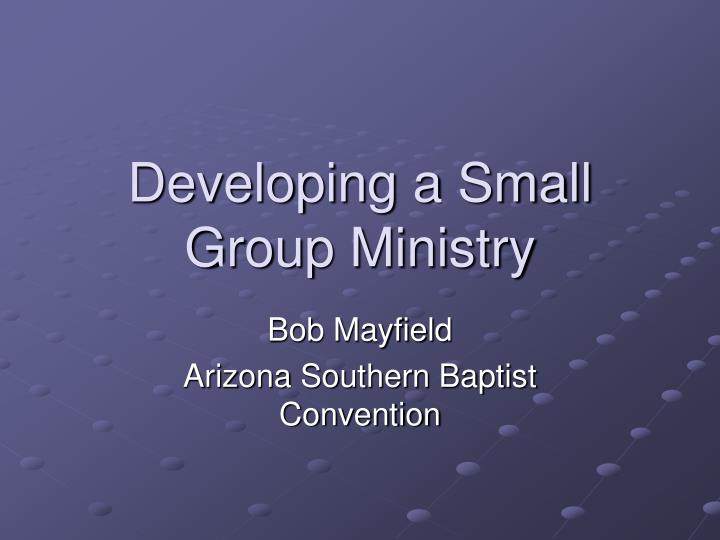 developing a small group ministry n.