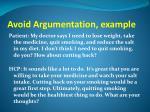 avoid argumentation example