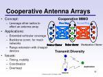 cooperative antenna arrays