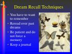 dream recall techniques