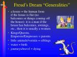 freud s dream generalities