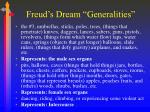 freud s dream generalities1