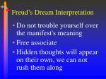 freud s dream interpretation