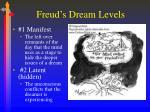 freud s dream levels