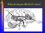 what do dreams really mean