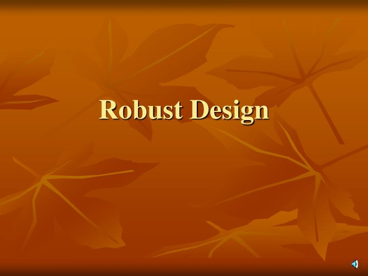 robust design n.
