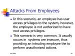 attacks from employees