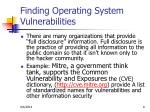 finding operating system vulnerabilities