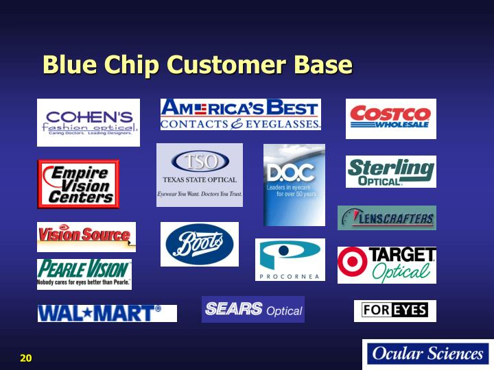 Blue Chip Customer Base