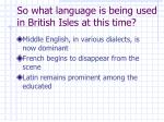 so what language is being used in british isles at this time4