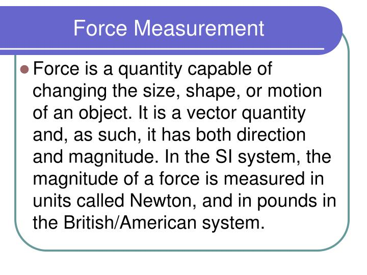 force measurement n.