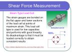 shear force measurement