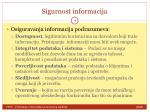 sigurnost informacija