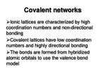 covalent networks