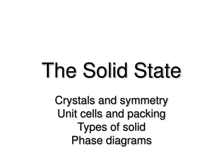 the solid state n.