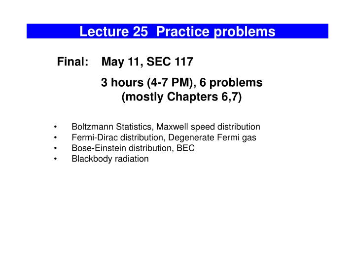 lecture 25 practice problems n.