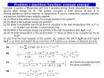 problem 2 partition function average energy