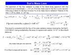 sun s mass loss