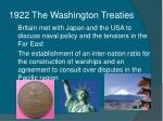 1922 the washington treaties