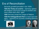 era of reconciliation