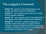 the league s covenant