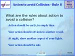 action to avoid collision rule 8