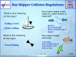day skipper collision regulations
