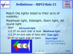 definitions irpcs rule 21