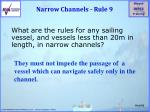 narrow channels rule 9